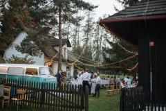 Osvětlení svatby venkovní