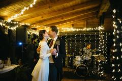 Novomanželský tanec se světýlky