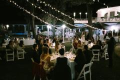 Svatební párty se světýlky