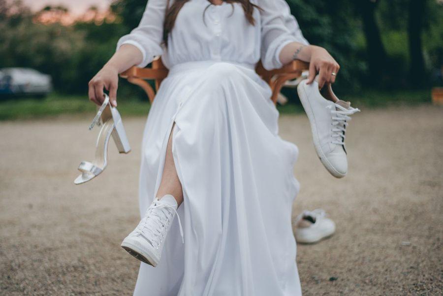 Svatební hra boty v akci