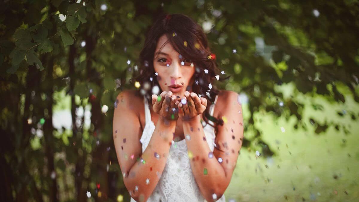 Vystřelovací konfety na svatbu